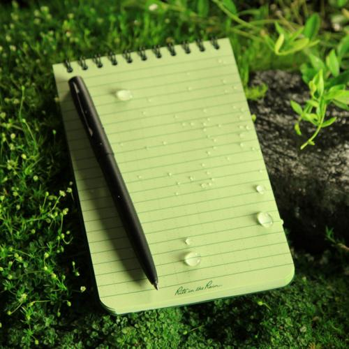 4X6 GREEN WATERPROOF SPIRAL NOTEBOOK;100 PAGES