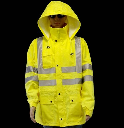 ANSI/ISEA 107-2015 Class 3 Type R Lime Jacket with 3M Scotchlite Reflective Tape Large