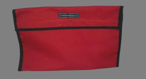 Ameri-Viz 12X18 FABRIC VEST BAG - RED