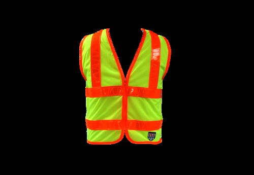 Ameri-Viz #2 ANSI VEST/LIME/BLAZE-ORANGE REFLECTIVE 2 TAPE