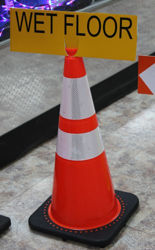 "Ameri-Viz 6""X18"" TRAFFIC CONE SIGN - EGP REFLECTIVE"