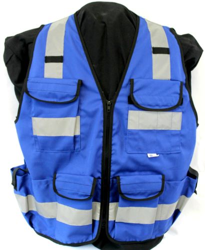 BLUE 11 PKT VEST (SURVEYOR) ZIPPER
