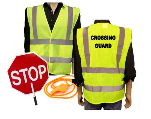 Ameri-Viz CROSSING GUARD KIT / VEST / PADDLE / WHISTLE
