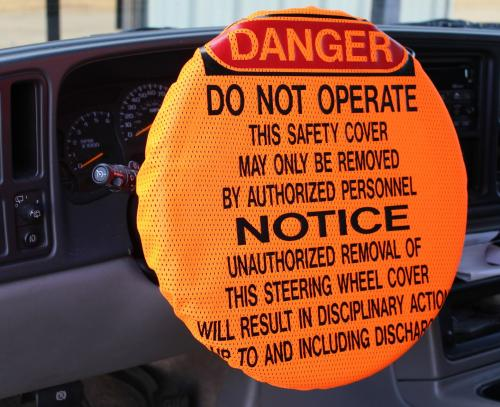 Ameri-Viz DANGER - ORANGE MESH STEERING WHEEL COVER
