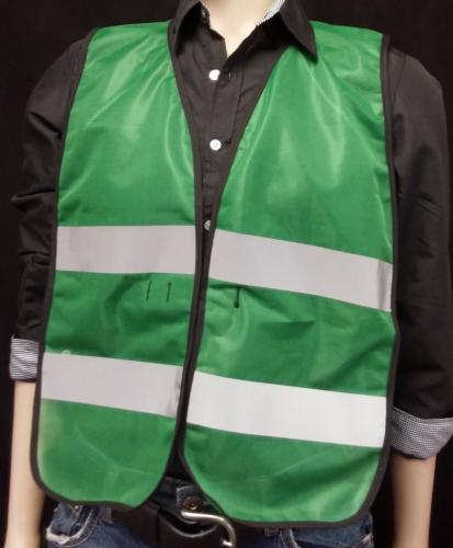 Ameri-Viz KELLY GREEN CERT VEST/SILVER STRIPES /CERT