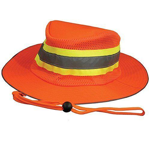 Ameri-Viz ORANGE RANGER HAT / TRIPLE TRIM REFLECITVE