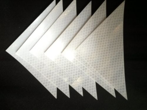 "Ameri-Viz REFLECTIVE TRIANGLE 4""X6"" / PACK OF SIX - WHITE"