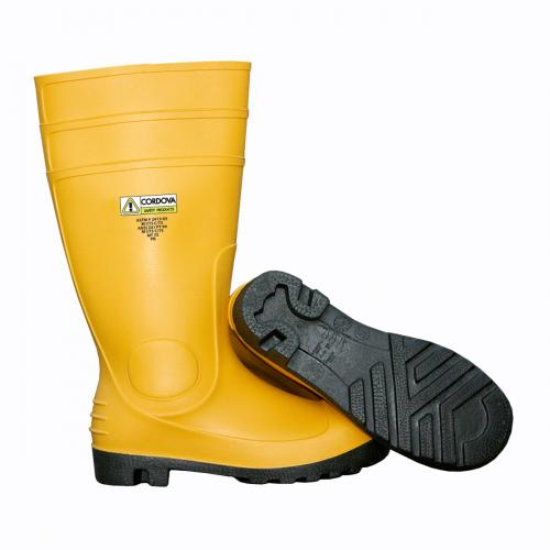 "CORDOVA 16""YELLOW PVC BOOT/S/T/S/S/LINED/BLACK SOLE 06"