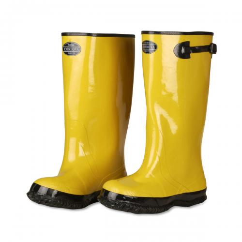 "CORDOVA 17"" YELLOW RUBBER BOOT/PLAIN TOE/STRAP&BUCKLE 06"