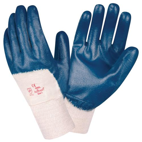 CORDOVA BRAWLER II™ PREMIUM DIPPED NITRILE, PALM COATED, INTERLOCK LINED, KNIT WRIST, SANITIZED® S