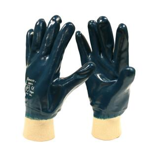 CORDOVA BRAWLER™ PREMIUM DIPPED NITRILE, FULLY COATED, JERSEY LINED, KNIT WRIST, SANITIZED® S