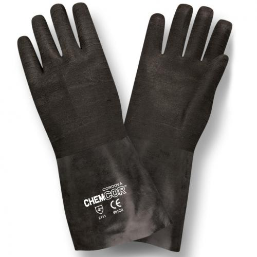CORDOVA CHEM-COR BLACK SUPPORTED NEOPRENE, SMOOTH 12