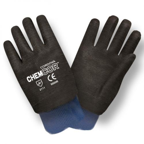 CORDOVA CHEM-COR BLACK SUPPORTED NEOPRENE, SMOOTH FINISH,