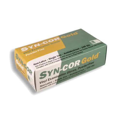 CORDOVA DISP GLOVES SYN-COR GOLD VINYL-EXAM 5M POWERFREE
