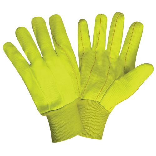CORDOVA HIGH VIS LIME GREEN DOUBLE PALM POLYESTER/COTTON
