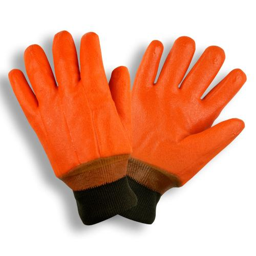 CORDOVA HI-VIS ORANGE, SINGLE DIPPED, FOAM INSULATED PVC, SMOOTH FINISH, KNIT WRIST L