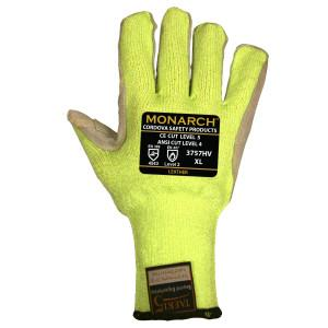 CORDOVA MONARCH-LEATHER: 10-GAUGE, HI-VIS GREEN TAEKI5 XSMALL