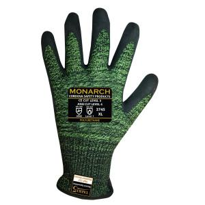 CORDOVA MONARCH-PU: 13-GAUGE GREEN/BLACK SPUN TAEKI5 XS
