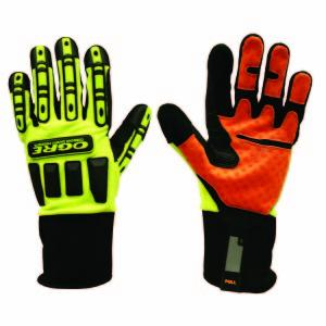 CORDOVA OGRE, LIME GREEN SPANDEX BACK, ORANGE M