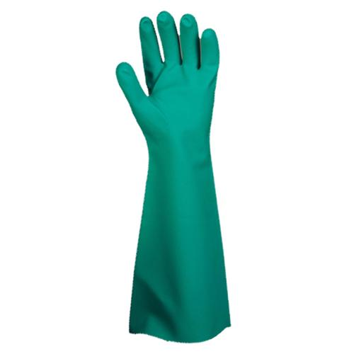 CORDOVA PREMIUM GREEN NITRILE, UNLINED, 22-MIL, PEBBLE GRIP, 18-INCH M