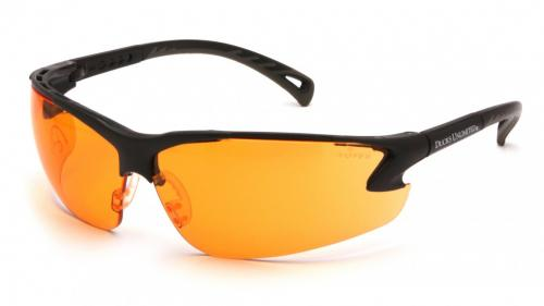 Ducks Unlimited SAFETY GLASSES ORANGE LENS/GRAY EAR MUFFS