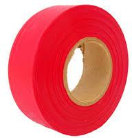 FLAG TAPE/RED/1-3/16 X 300 INDIVIDUAL ROLLS