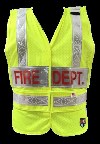 MTS Safety LIMEPUBLIC SAFETY VEST/2LP/HS