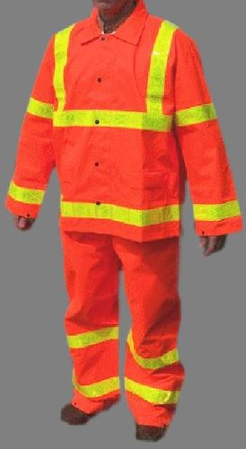 PU ORANGE REFLECTIVE RAINSUIT/2-PC 2X