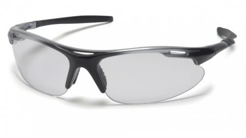 Pryamex AVANTE CLEAR LENS WITH SILVER/BLACK FRAME