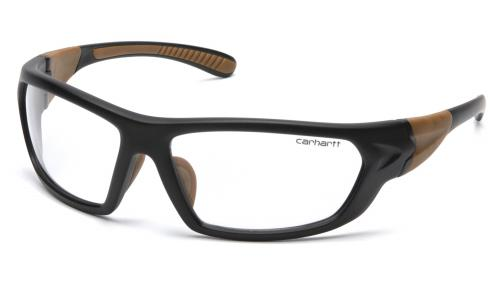 Pyramex CARBONDALE BLACK/TAN FRAME WITH CLEAR LENS