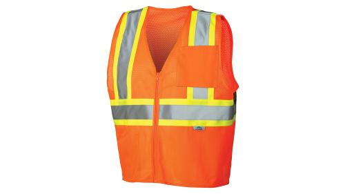 Pyramex CLASS 2/LEVEL 2 HI-VIS ORANGE SAFETY VEST MED