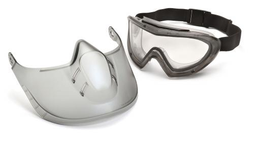 Pyramex CLEAR ANTI-FOG DUAL LENS WITH CLEAR SHIELD