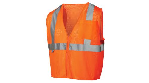 Pyramex Class 2/Level 2 Hi-Vis Orange Safety Vest LARGE