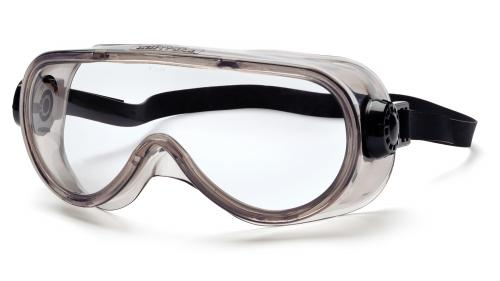 Pyramex Clear Anti-Fog Top Shelf Chemical Splash Goggle with Neoprene Strap