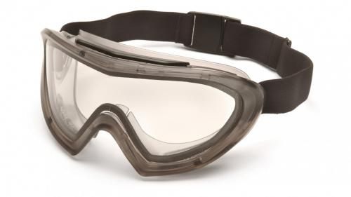 Pyramex GRAY GOGGLE WITH QUICK RELEASE STRAP ANTI-FOG LENS