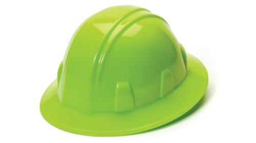Pyramex HI-VIS LIME FULL BRIM STYLE 4-POINT RATCHET