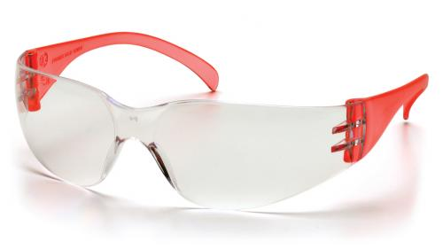 Pyramex INTRUDER RED TEMPLES WITH CLEAR LENS