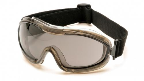 Pyramex LOW PROFILE CHEMICAL SPLASH GOGGLE GRAY ANTI-FOG