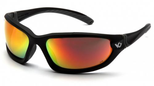 Pyramex OCOEE, BLACK FRAME,SKY RED MIRROR ANTI-FOG LENS