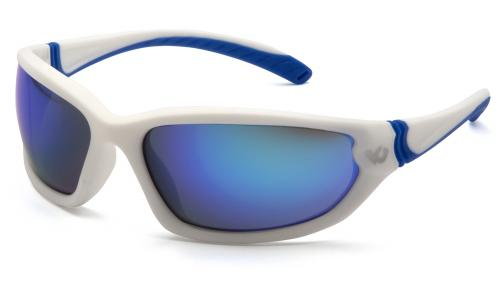 Pyramex OCOEE, WHITE FRAME,ICE BLUE MIRROR ANTI-FOG