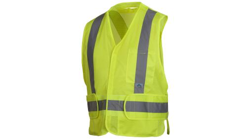 Pyramex RCA2510  CLASS 2 HI VIS LIME ADJUSTABLE VEST M-XL