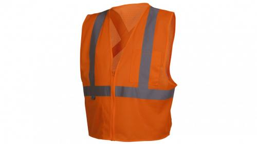 Pyramex RCZ2110   CLASS 2 HI VIS ORANGE SAFETY VEST MEDIUM