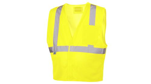 Pyramex RVHL25 SERIES HI-VIS LIME SAFETY VEST MEDIUM