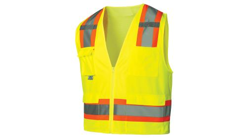 Pyramex RVZ24 SERIES CLASS 2 HI-VIS LIME SAFETY VEST M