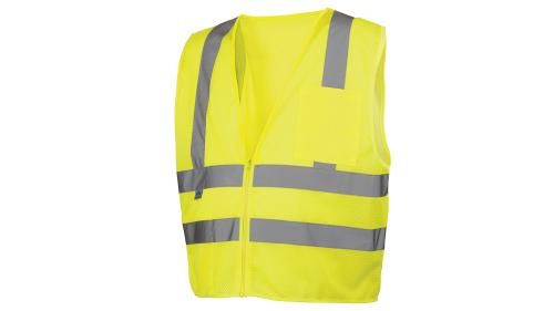 Pyramex RVZ26 SERIES CLASS 2 HI-VIS LIME SAFETY VEST MED