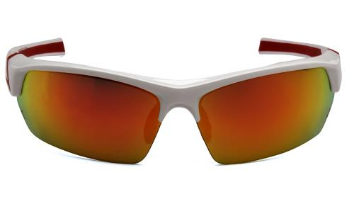 Pyramex TENSAW WHITE/RED FRAME,SKY RED MIRROR ANTI-FOG