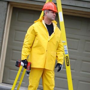 STORMFRONT FR .35MM PVC/POLY YELW 3PC RAIN SUIT S