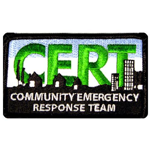 2X4 EMBROIDERED PATCH/ CERT LOGO