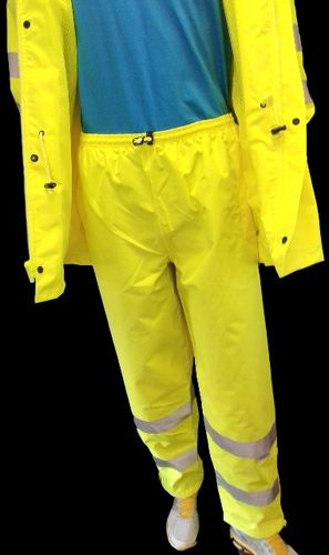 AHLBORN ANSI/ISEA 107-2015 Class 3 Type E  Lime Pants with 3M Scotchlite  Reflective Tape Small