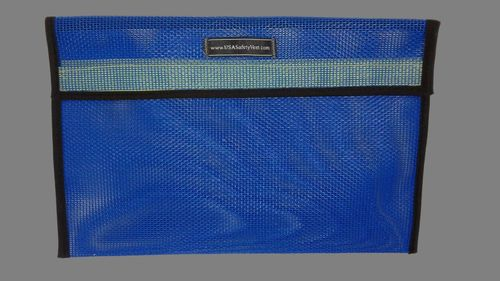 Ameri-Viz 12X18 VINYL COATED MESH VEST BAG - BLUE